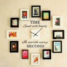 Home wall decor time spent with family quote wall decoration letters vinyl home wall decor sticker . home wall decor Letter Wall Decor, Tree Wall Decor, Clock Decor, Wall Art Decor, Decorative Letters For Wall, Vinyl Decor, Wooden Letters, Monogram Letters, Wall Clocks