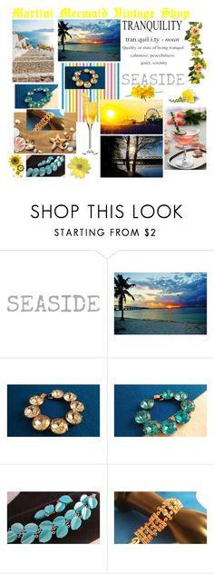 """Tranquility....Beach Side...."" by martinimermaid ❤ liked on Polyvore featuring vintage"