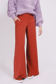 Split pants - Firecracker orange trousers by MAUD Split Pants, Firecracker, Trousers, Orange, Fashion, Trouser Pants, Pants, Moda, La Mode