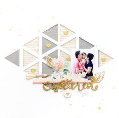 Maggie Holmes Design Team : Happy Heart Captured by Jessy Christopher Wedding Scrapbook, Scrapbook Cards, Kids Scrapbook, Paper Supplies, Crate Paper, Studio Calico, Happy Heart, Layout Inspiration, Scrapbooking Layouts