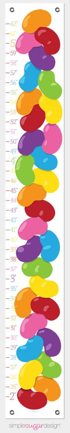 Create a treasured keepsake for your child with this jelly bean growth chart! Great Christmas Gifts, Holiday, Growth Charts, Simple Sugar, Rainbow Nursery, Jelly Beans, Nursery Ideas, Gifts For Kids, Canvas