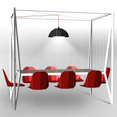 Table Swing rouge