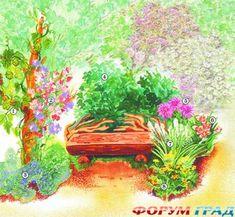 Декорирование садовой скамейки