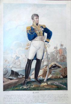 Jean Rapp (né le 27 avril 1773 à Colmar - mort à Rheinweiler le 8 novembre 1821) - Général de division - gravé par Charon d'après Aubry en 1805 et publié chez Jean - MAS Estampes Anciennes - Antique Prints