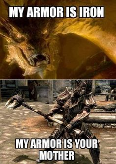Skyrim vs. Smaug Fun