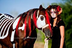 Dia de los Muertos, Day of the Dead, Sugar Skull, makeup, www.crossbphoto.com, equine photography, horse, costume