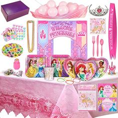 Disney Princess Birthday Party Supplies & Decorations - 8 Guests (177 Pieces) - http://partysuppliesanddecorations.com/disney-princess-birthday-party-supplies-decorations-8-guests-177-pieces.html