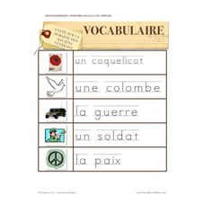 Remembrance Day Sight Words / Word Walls FRENCH The sight words are included in the Remembrance Day book. French Teacher, Teaching French, Remembrance Day Activities, Core French, French Classroom, French Immersion, Teaching Social Studies, Learning Through Play, Holiday Activities