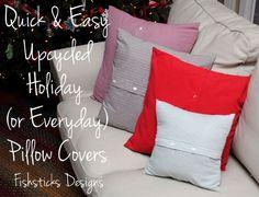 Handmade Christmas – Quick Pillow Cover Tutorial