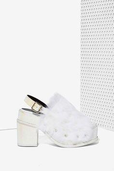 YES Topaz Faux Fur Platform - Heels | Shoes | All | Open Toe | Shoes