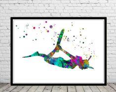 Scuba diving girl Scuba diving art diver print sport Art