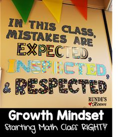 Growth Mindset in Math - Starting Math Class Right!