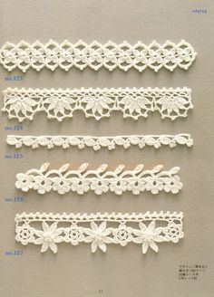 Crochet Edging And Borders - Trendy lace edging crochet patterns free vintage fan crochet edging - a free pattern Crochet Edging Patterns, Crochet Lace Edging, Crochet Borders, Crochet Chart, Lace Patterns, Crochet Trim, Filet Crochet, Crochet Edgings, Crocheted Lace