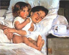 Mary Cassatt (American:1844–1926) - Breakfast in Bed (1897)
