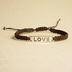 Love Tag Black Friendship Bracelet    Men Jewelry  by HipCrafts, $11.99