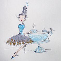 Illustration Art Drawing, Illustrations, Graphic Design Illustration, Art Drawings, Coffee Artwork, Pretty Art, Whimsical Art, Rwby, Character Design