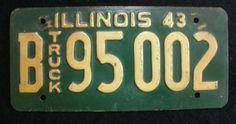 1943 Illinois Truck License Plate - B95002
