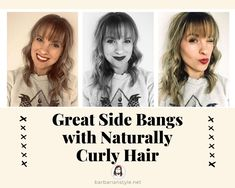 Searching for bangs curly hairstyles? Check hairstyles with bangs for natural curly hair. Choose the one that will fit you and create a superb look! Curly Hair With Bangs, Curly Hair Cuts, Natural Wavy Hair, Short Curly Hair, Perfect Image, Perfect Photo, Haircuts With Bangs, Love Photos, Curly Hairstyles