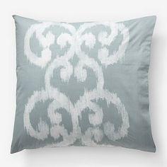 Organic Ikat Scroll Duvet Cover + Shams #WilliamsSonoma