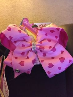 New Style JoJo Siwa Large Valentines Heart Hair Bow Dance Cheer Bow Claire s | eBay
