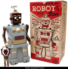 Robot and son by Marx toys
