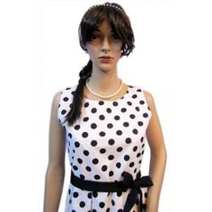 Naritva Black Polka Dots Cocktail dress