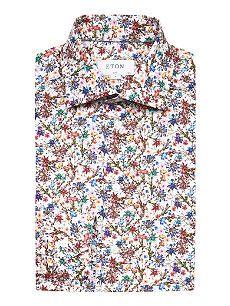 ETON Floral-print cotton-poplin shirt