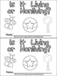 **Living or Nonliving Things Emergent Reader for Kindergarten- Science** This emergent reader little book will help young students practice early reading skills, while learning about living and nonliving things. Throughout the book, students learn about 1st Grade Science, Primary Science, Kindergarten Science, Elementary Science, Science Classroom, Kindergarten Classroom, Teaching Science, Science For Kids, Science Activities