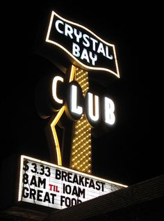 Crystal Bay Club Lake Tahoe sign