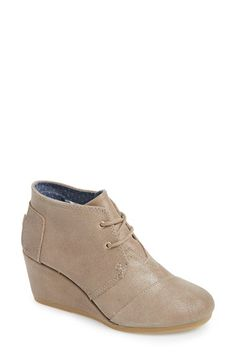 TOMS TOMS 'Desert' Wedge Bootie (Women) available at #Nordstrom