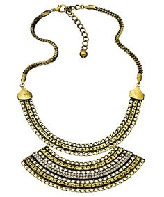 Blu Bijoux gold empress bib necklace. Max & Chloe $36
