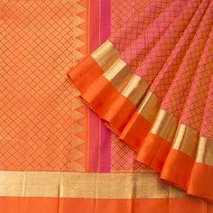 Sari / Silk Saris - Parisera Kanjipuram Saree, Phulkari Saree, Pink Saree, Anarkali, Indian Silk Sarees, Ethnic Sarees, Soft Silk Sarees, Sari Silk, Saree Models