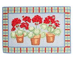 Hand Hooked 100% Wool Geranium 2'x3' Accent Rugby Valerie.....until 3pm today special price!