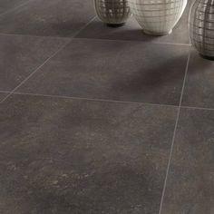 carrelage_sol_et_mur_noir_oxyde_effet_pierre_pietra_l_60_x_l_60_cm Tile Floor, Mockingjay, Parquetry, Black People, Projects, Home, Kitchens, Tile Flooring