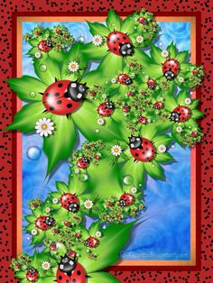 Ladybug Fractals | ladybugs by liuanta digital art fractal art raw fractals 2010 2015 ...