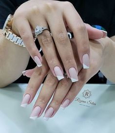 Wedding Nails-A Guide To The Perfect Manicure – NaiLovely French Tip Nail Designs, Nail Art Designs, French Nails, Hair And Nails, My Nails, New Nail Colors, Easter Nails, Luxury Nails, Manicure E Pedicure