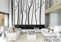 Hey, I found this really awesome Etsy listing at https://www.etsy.com/listing/119794289/birch-wall-decal-tree-wall-decal-large
