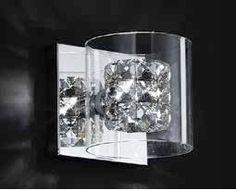 arandela em cristal bella iluminação ho028 Mercado Livre - R$ 155