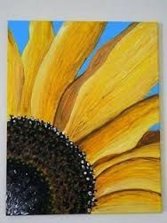 Painting again I see! want to learn to paint. It's on my bucket list. Original Sunflower Painting by ArtByKatieE on Ets Mellow Yellow, Learn To Paint, Art Plastique, Vincent Van Gogh, Painting Techniques, Love Art, Painting Inspiration, Painting & Drawing, Diy Painting