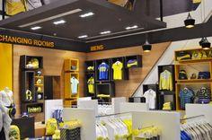 Al Nassr retail store by Redesign Group, Riyadh   Saudi Arabia store design