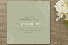 chocolat et crème Bridal Shower Invitations by guess what? at minted.com