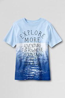 graphic tees in all products at Lands' End.
