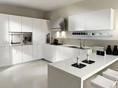 Cocinas Modernas Blancas Con Isla | Imagen Cocinas Modernas Blancas Del Articulo Fotos Cocinas