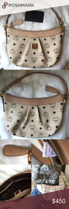 MCM visetos shoulder bag Classic authentic leather handbag from MCM; This bag was worn out a few times but is in excellent condition. There is only one small spot on the zipper which is pictured. -does not come with dust bag MCM Bags Shoulder Bags