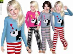 Panda pajama set by lillka - Sims 3 Downloads CC Caboodle