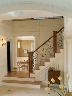 Wrought Iron Stair Railings Design, Pictures, Remodel, Decor and Ideas - page 12