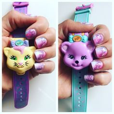 Pastel galaxy nails and toys... love it.  Come and say hi: https://www.instagram.com/mevintagetoys/