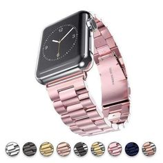 Apple Watch Series 5 4 3 2 Band, Luxury metal Stainless Steel rolex Strap Bracelet Wrist Belt for iWatch US Fast Shipping - 5016 Wallpaper Iphone 5c, Iphone 8 Plus, Iphone Cases, Pug Life, Cool Watches, Watches For Men, Wrist Watches, Stylish Watches, Rolex Watches