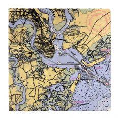 Charleston Map Trivet