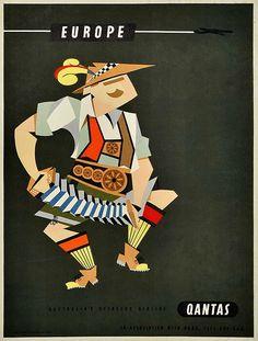Qantas Europe Poster